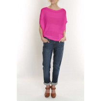 Elizabeth Knit Top-Pink-M