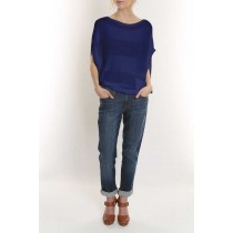 Elizabeth Knit Top-Royal Blue-M